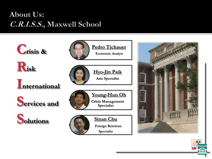 About us c r i s s maxwell school