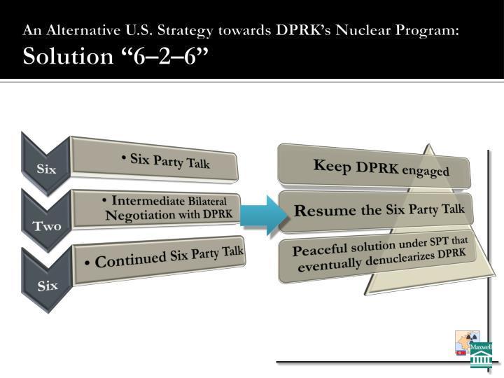 An alternative u s strategy towards dprk s nuclear program solution 6 2 6
