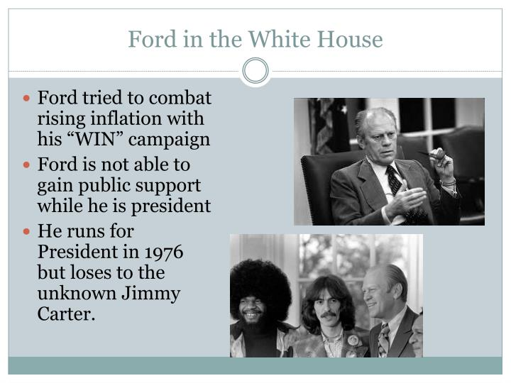 Ford in the white house
