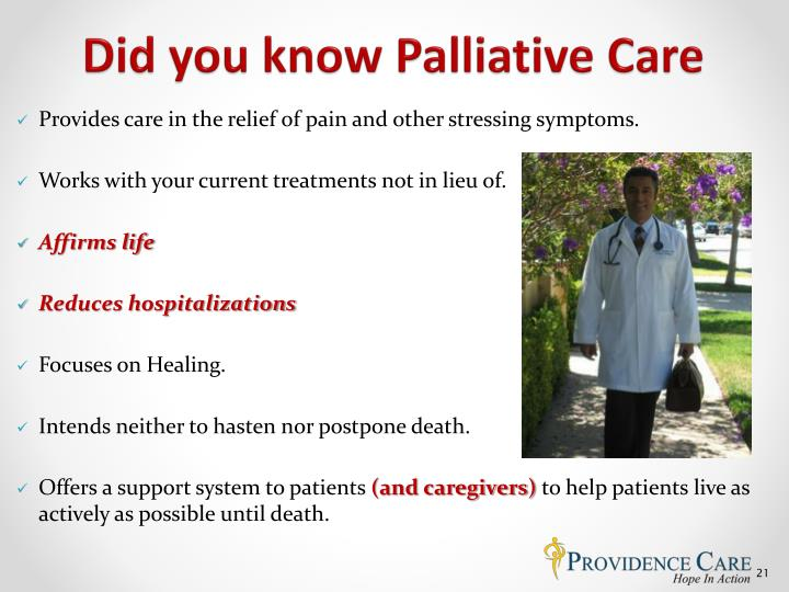Did you know Palliative Care