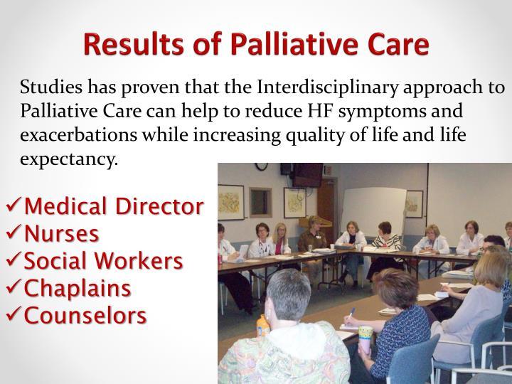Results of Palliative Care