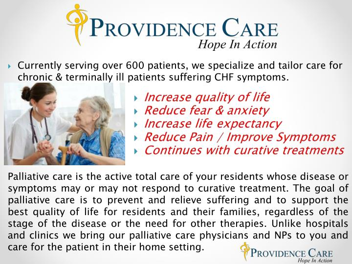 Currently serving over 600 patients, we specialize