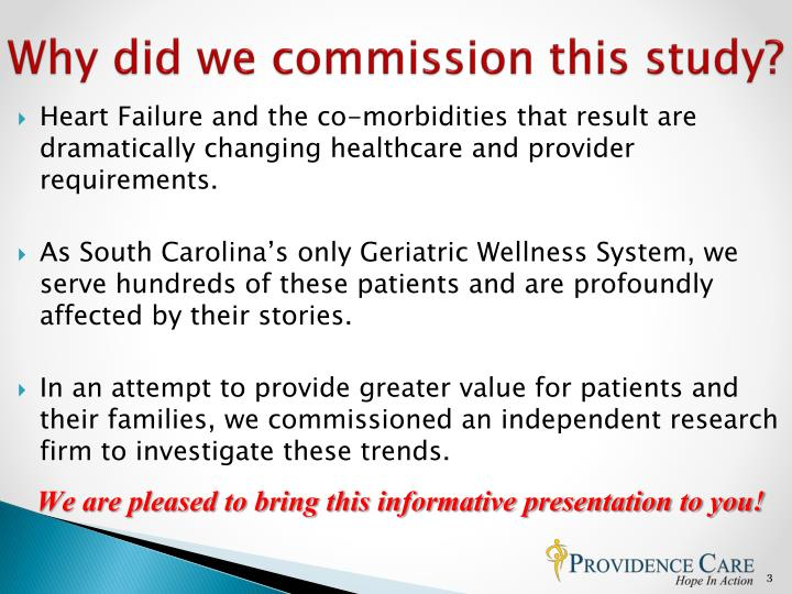 Why did we commission this study?
