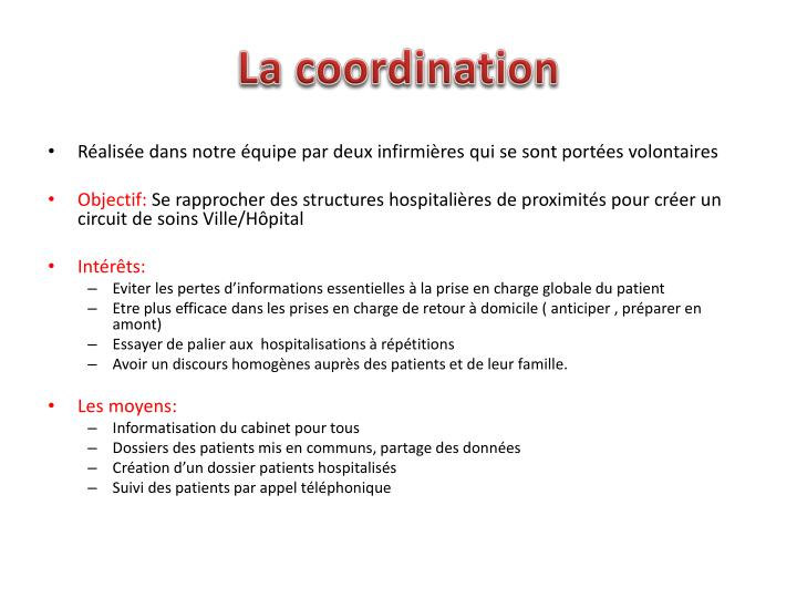 La coordination