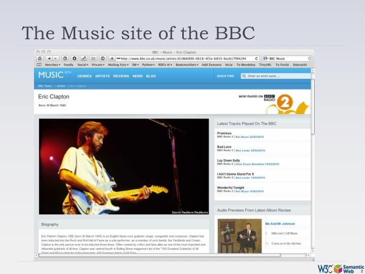The music site of the bbc
