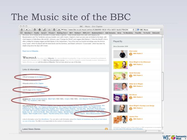 The music site of the bbc1