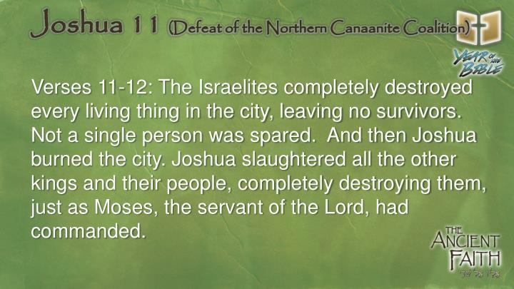 Joshua 11 defeat of the northern canaanite coalition