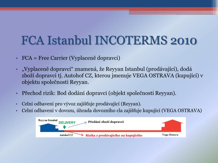 FCA Istanbul INCOTERMS 2010