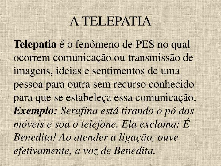 A TELEPATIA