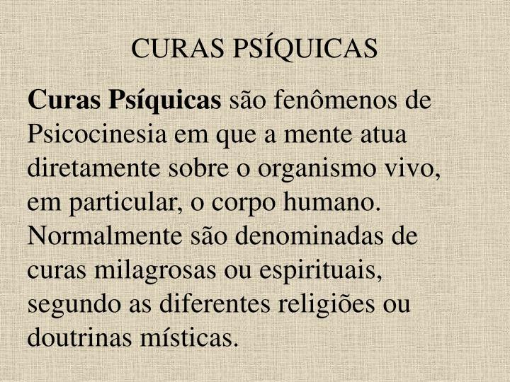CURAS PSÍQUICAS