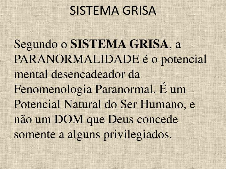 SISTEMA GRISA