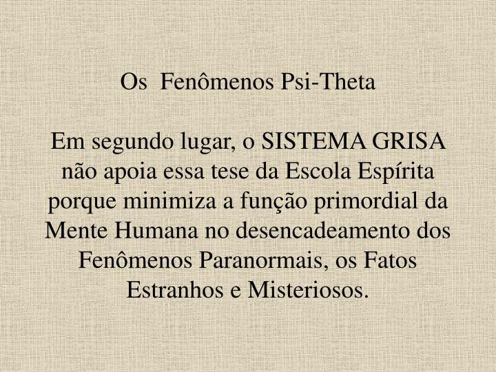 Os  Fenômenos Psi-Theta