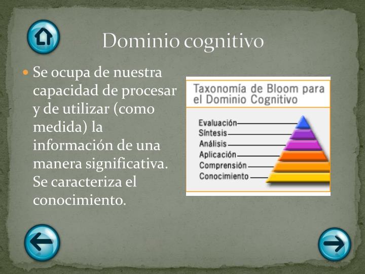 Dominio cognitivo