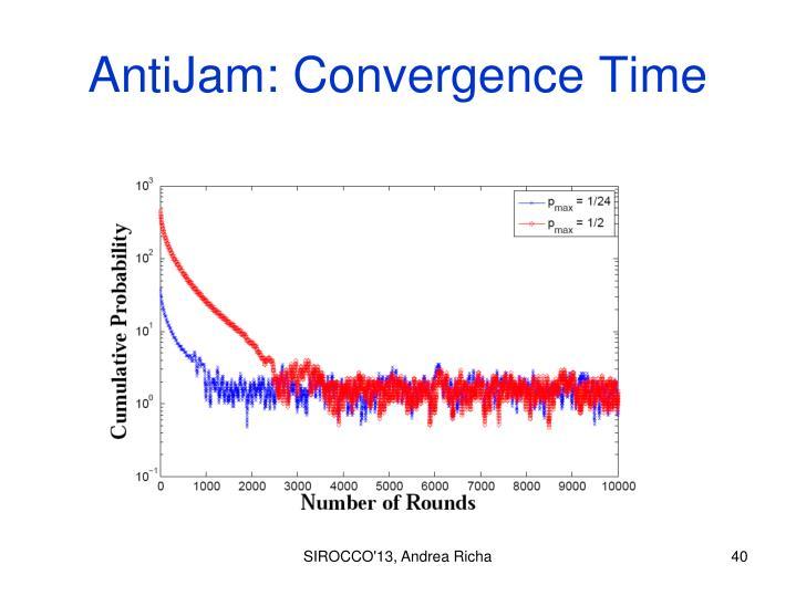 AntiJam: Convergence Time