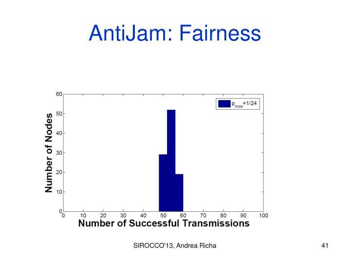 AntiJam: Fairness
