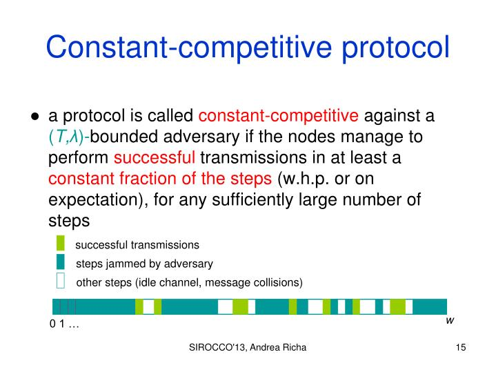 Constant-competitive protocol