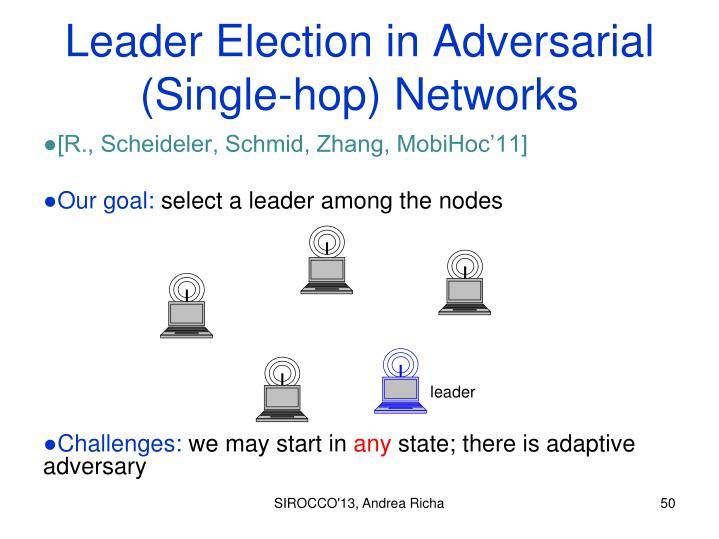 Leader Election in Adversarial (Single-hop) Networks