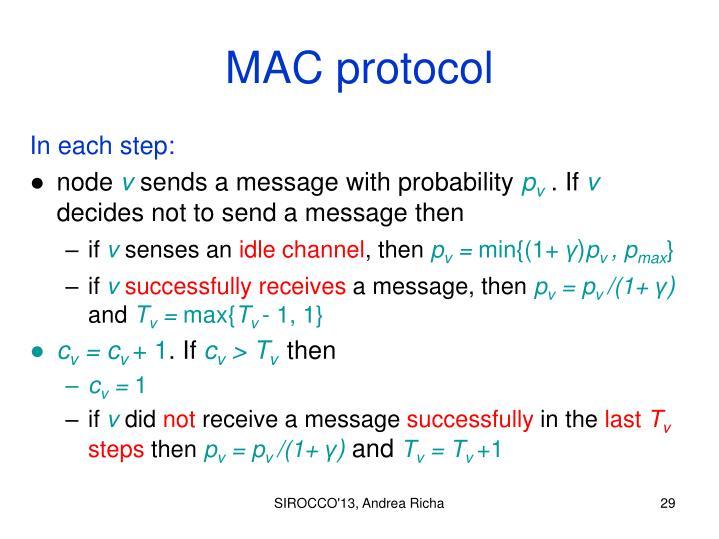 MAC protocol