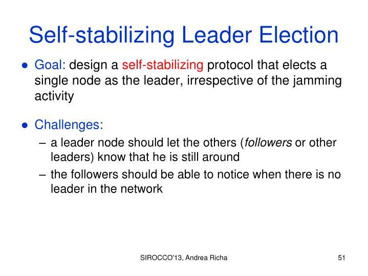 Self-stabilizing Leader Election