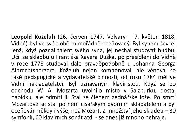 Leopold Koželuh
