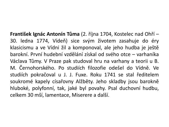 František Ignác Antonín Tůma