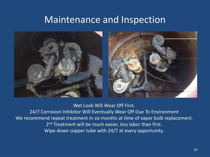 Maintenance and Inspection
