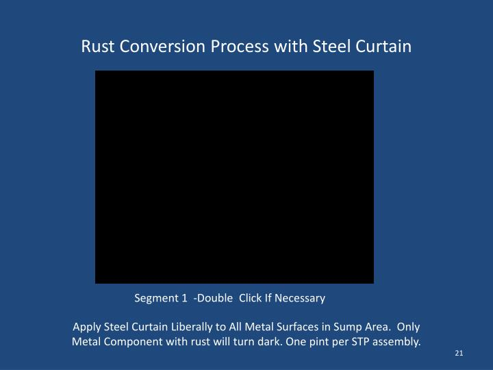Rust Conversion Process with Steel Curtain