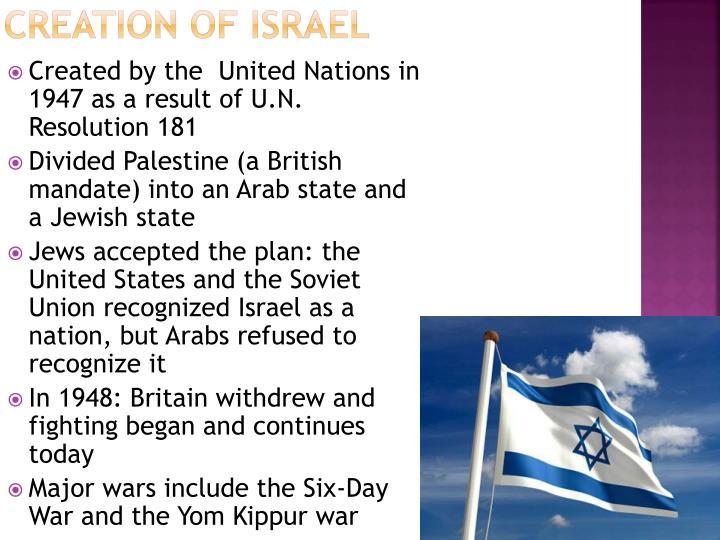 Creation of Israel