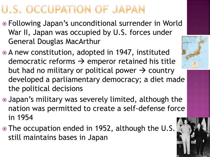 U.S. Occupation of Japan