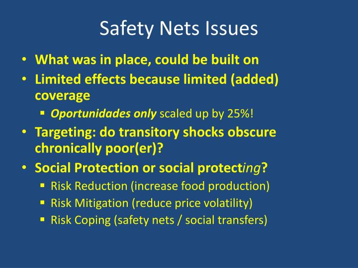 Safety Nets Issues
