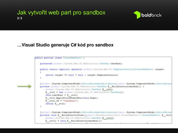 Jak vytvořit web part pro