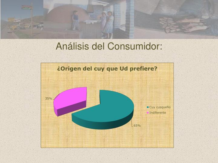 Análisis del Consumidor: