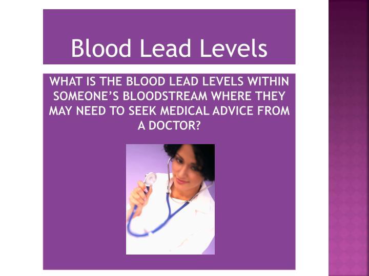 Blood Lead Levels