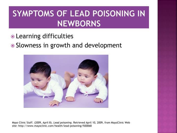 Symptoms of Lead Poisoning in Newborns