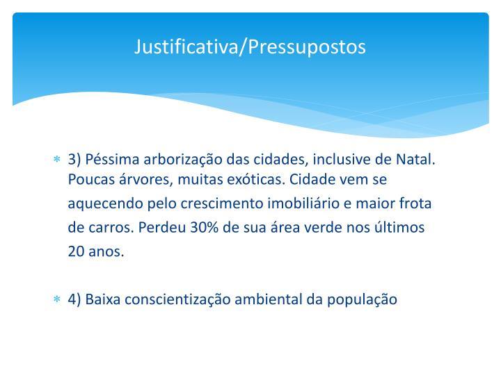 Justificativa/Pressupostos