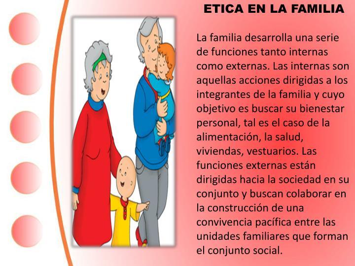 ETICA EN LA FAMILIA