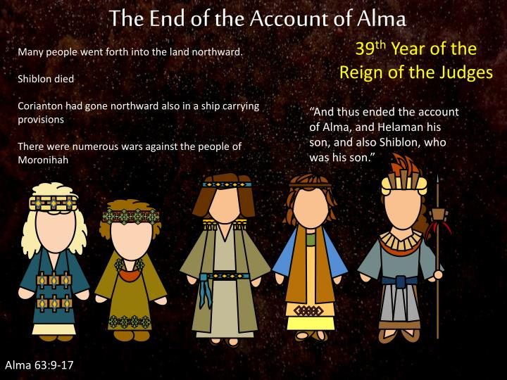 The End of the Account of Alma