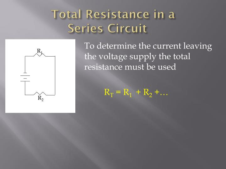 Total Resistance in a