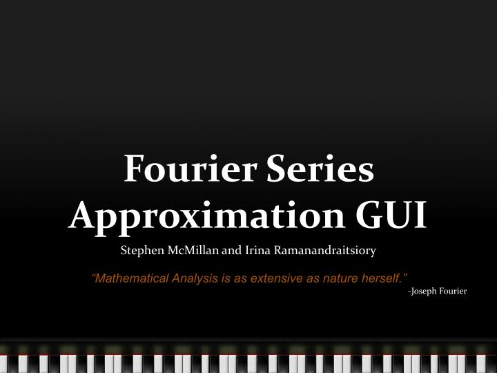 fourier series approximation gui