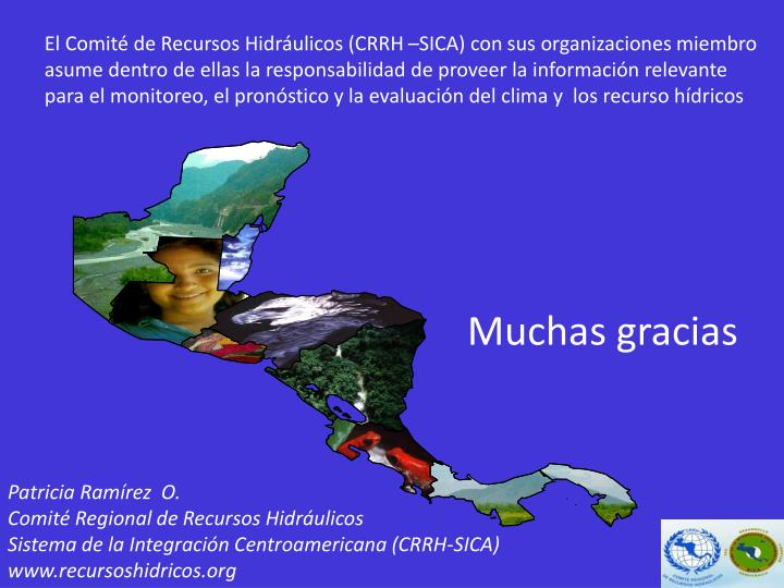 El Comité de Recursos Hidráulicos (CRRH –SICA) con