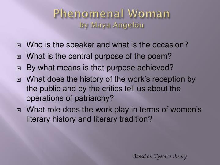 an analysis of the phenomenal women by maya angelou