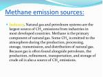 methane emission sources