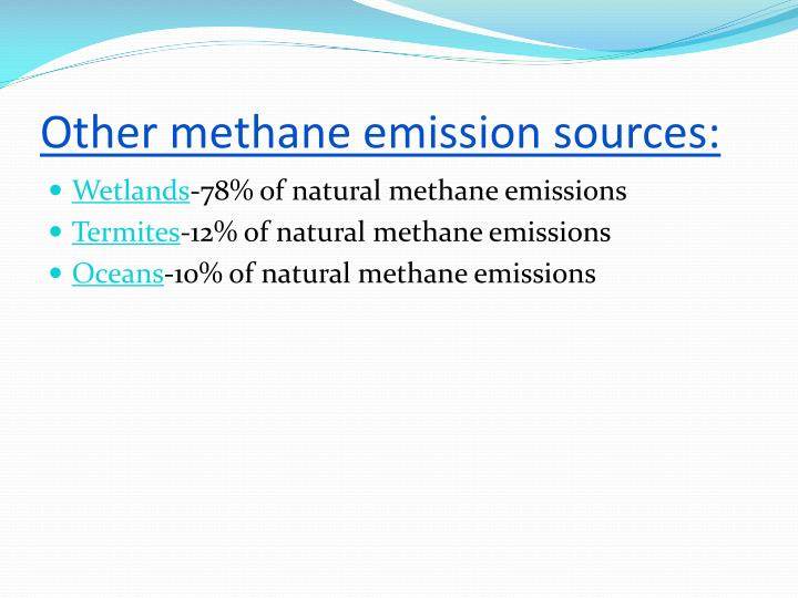 Other methane emission sources: