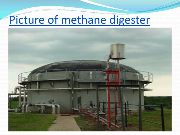 Picture of methane digester