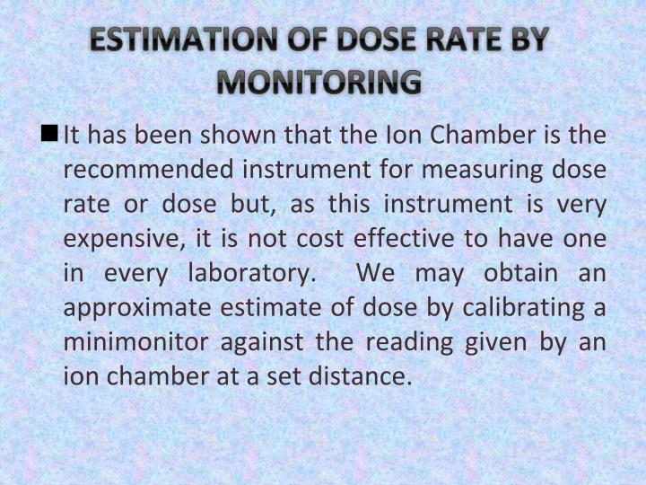 ESTIMATION OF DOSE RATE BY MONITORING