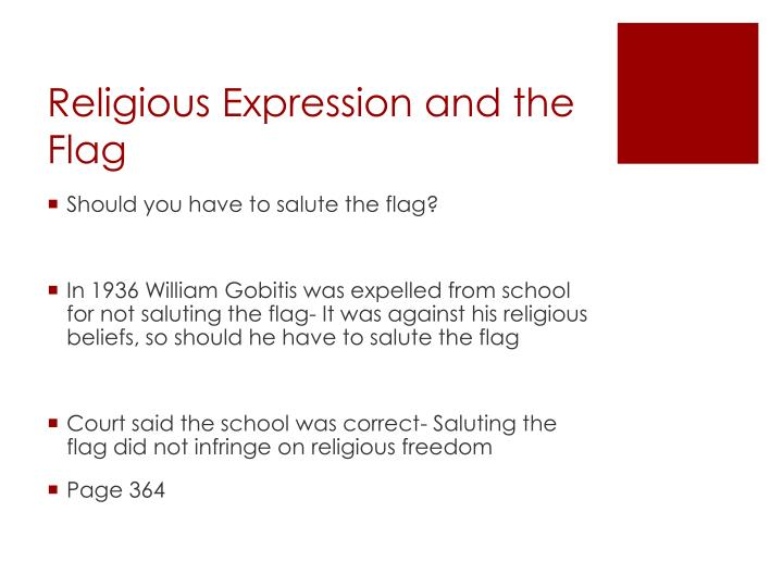 Religious Expression and the Flag