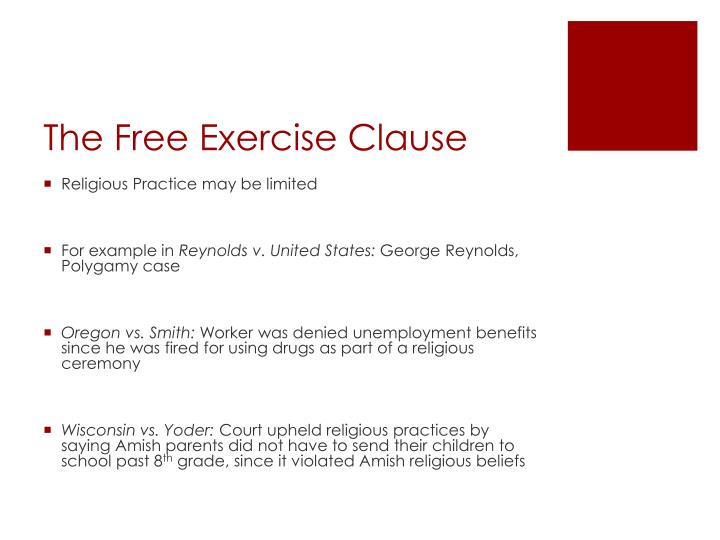 The Free Exercise Clause
