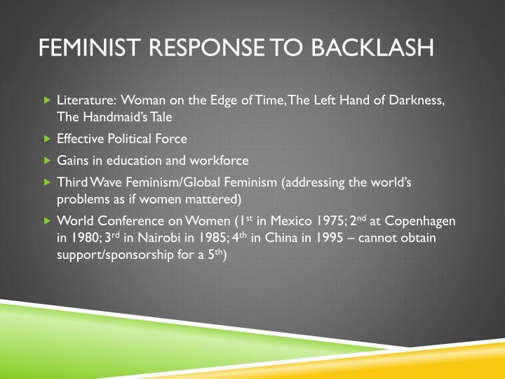Feminist response to backlash