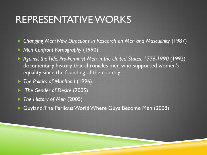Representative works