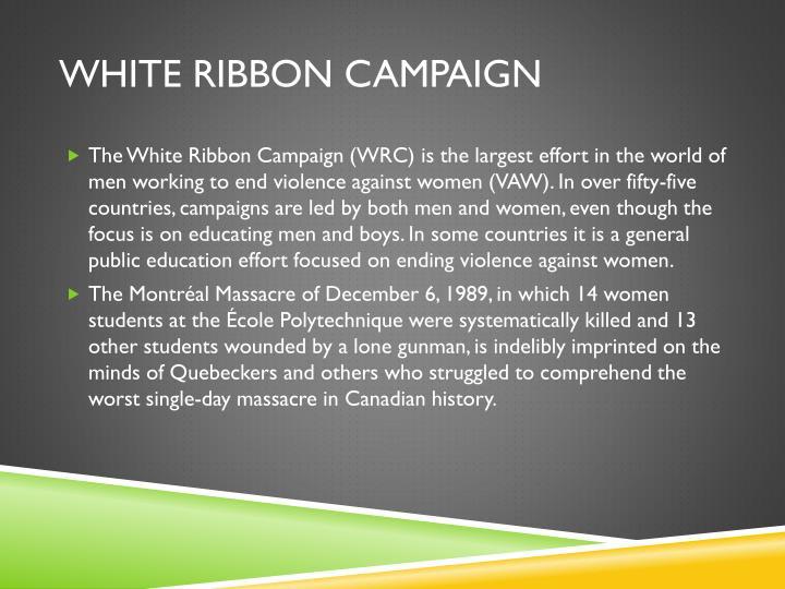 White ribbon campaign